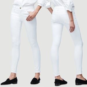 Frame Le Skinny de Jeanne Blanc White Skinny Jeans